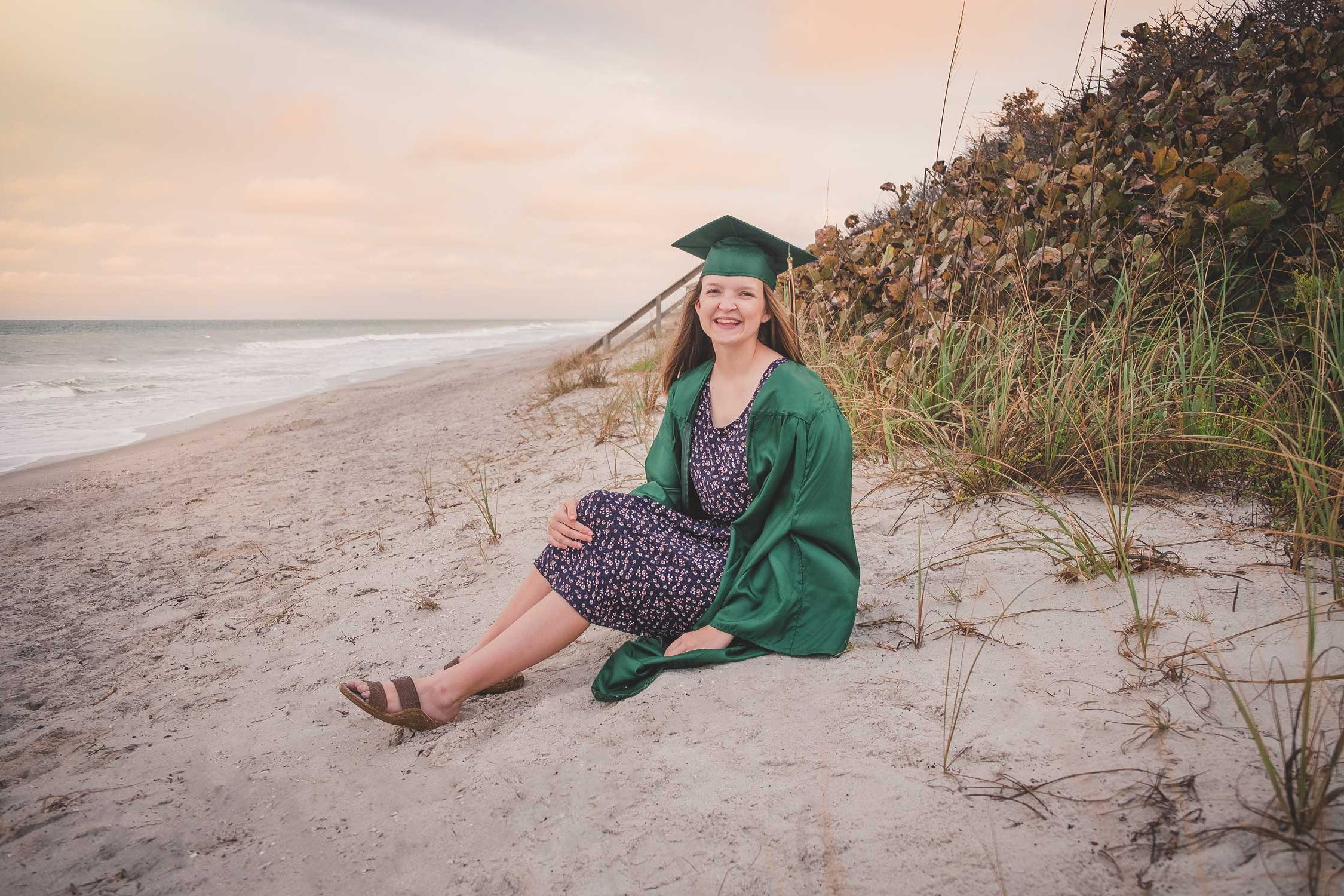 Graduation photos on the beach